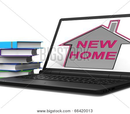 New Home House Tablet Means Purchasing Real Estate