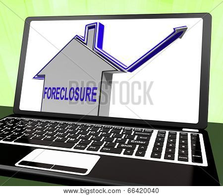 Foreclosure House Laptop Shows Lender Repossessing And Selling