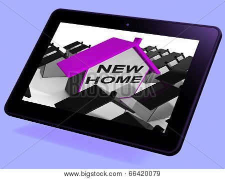 New Home House Tablet Means Buying Or Renting Out Property