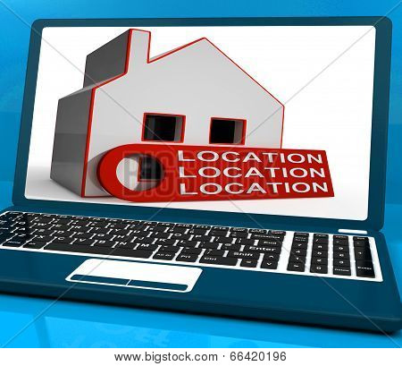Location Location Location House Laptop Means Perfect Area And H