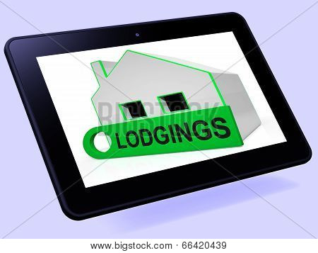Lodgings House Tablet Means Room Or Apartment Available
