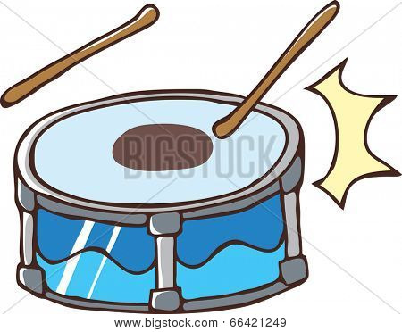 The view of drum with stick