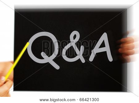 Q&a Message Means Questions Answers And Assistance