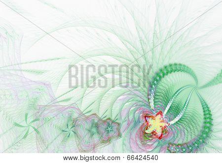 Fractal rgass background