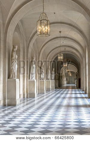 Hall Inside Versailles Chateau