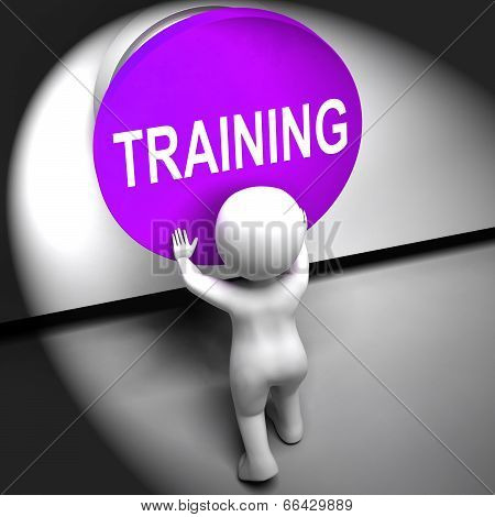Training Pressed Means Education Induction Or Seminar