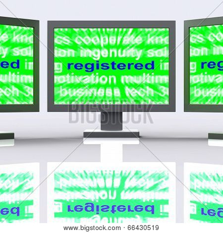 Registered Monitors Means Signed Up Or Patented