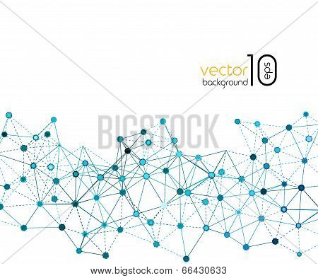 Abstract Molecule And Communication Background