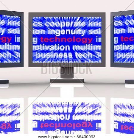 Technology Monitors Means Technological Developments Advances An