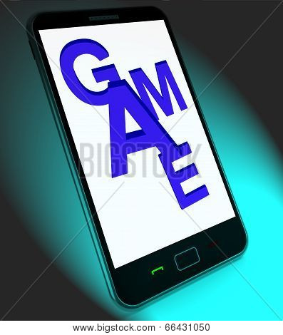 Game On Mobile Shows Online Gaming Or Gambling
