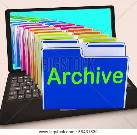 Archive Folders Laptop Show Documents Data And Backup