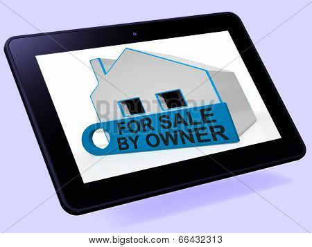 For Sale By Owner House Tablet Means No Real Estate Agent