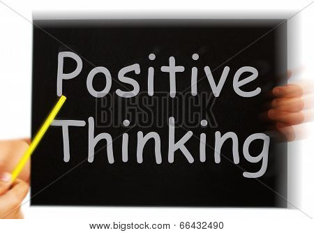 Positive Thinking Message Shows Optimism And Bright Outlook