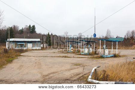 rusty abandoned gas station