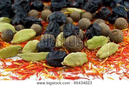 barberry , cardamom,red saffron ,black allspice