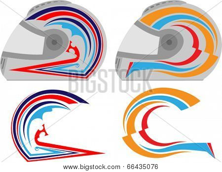 Helmet Graphics, Stripe : Vinyl Ready