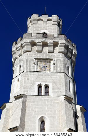 Details Of Tower Castle At Hluboka Nad Vltavou Town