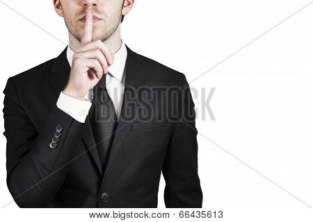 Businessman Silent Quiet