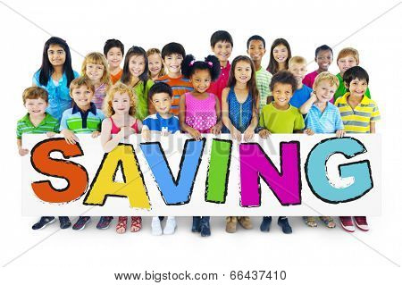 Group of Children and Saving Concepts