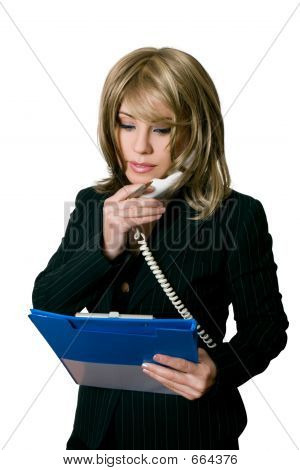 Office Worker With A File
