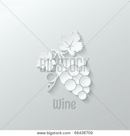 wine grapes background illustration