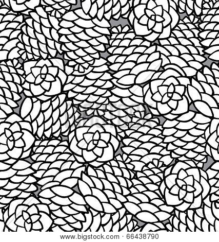 Pattern With Pinecones