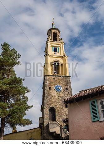 Italian inspired ornate buildings in Portmeirion