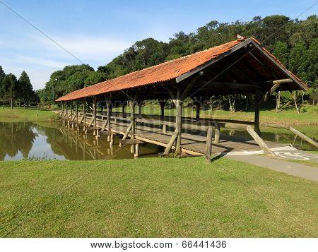 Curitiba Park Lake Bridge