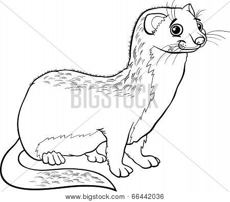 Weasel Animal Cartoon Coloring Book