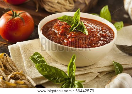Homemade Red Italian Marinara Sauce