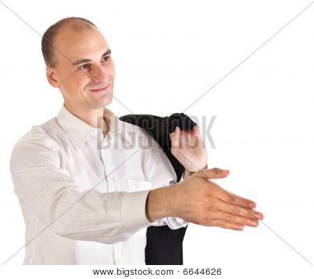 Businessman Ready For Hand Shake