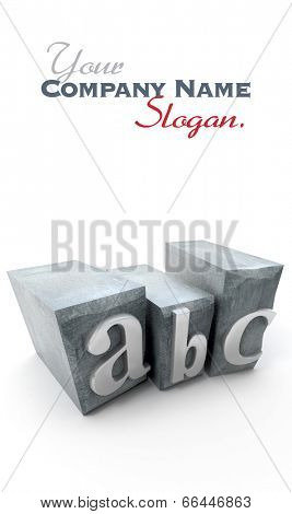 ABC written in print letter cases