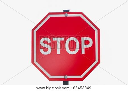 Red Traffic Stop Sign.
