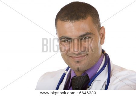 Portrait Of young Self Confident male Medical Doctor