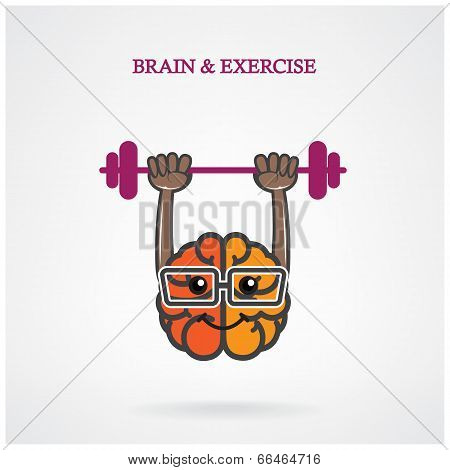 Creative Brain Sign With The Barbell
