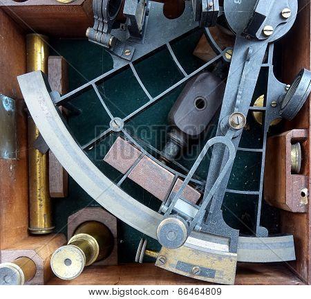 Vintage Sextant For Navigation
