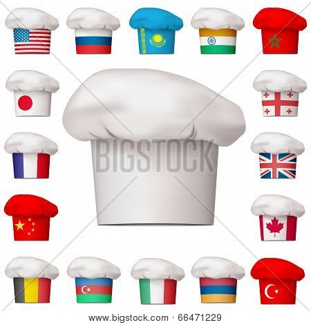 Set of national cuisine icons