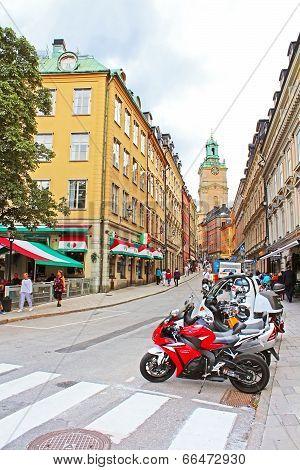 Storkyrkobrinken Street In Gamla Stan, Tourist Favourite Place