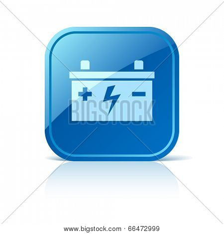 Battery icon on blue web button