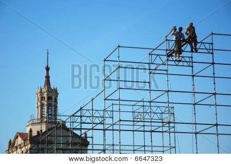 Workers In Construction
