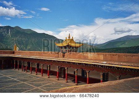 Tibetan Monastery In Xiancheng, China