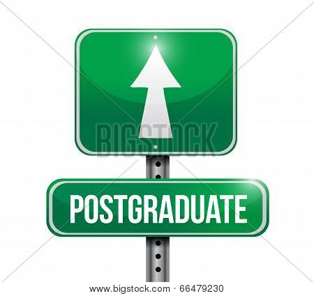 Postgraduate Street Sign Illustration