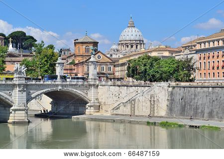 Rome. River Tiber Embankment