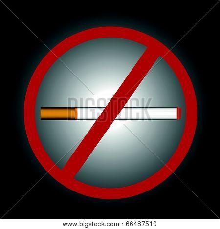 Stop smoking symbol