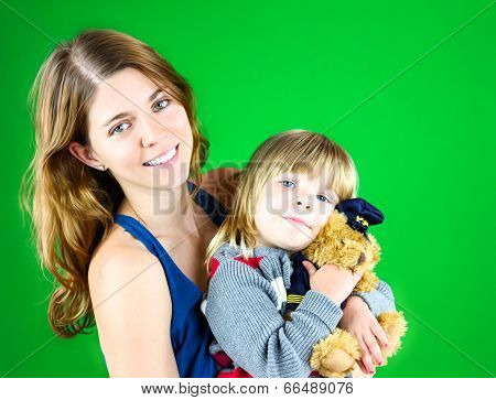 Cute Mom And Child