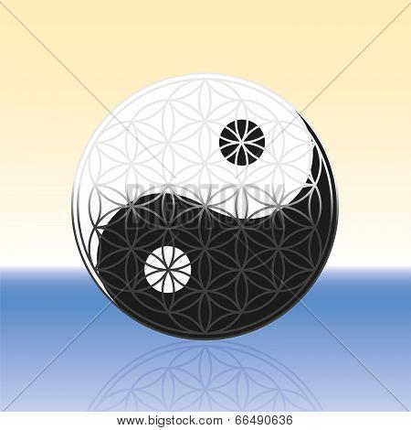 Flower of Life Yin Yang