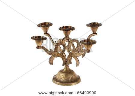 Ancient Bronze Candlestick