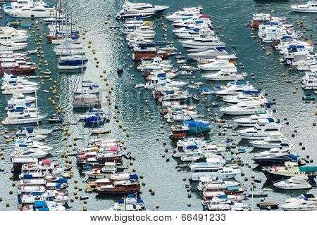 Aberdeen typhoon shelter in Hong Kong