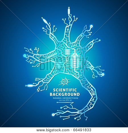 Neuron as an electrical circuit