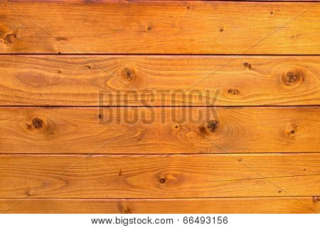 Wooden Boards Yellow Background